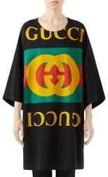 5a7e5a36160c Gucci GG Logo Oversize Cotton Tee