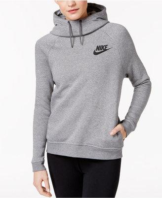 Nike Sportswear Rally Funnel-Neck Sweatshirt $60 thestylecure.com