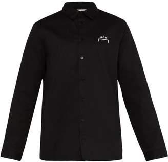A-Cold-Wall* A Cold Wall* Logo Print Cotton Shirt - Mens - Black