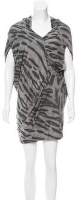 Yigal Azrouel Tiger Print Knit Dress