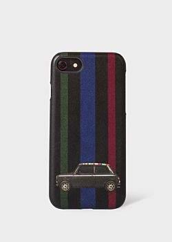 'Mini Stripe' Leather iPhone 6/6S/7/8 Case
