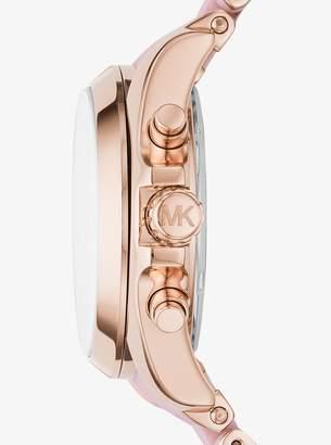 4deb4dd20c5c Michael Kors Bradshaw Rose Gold-Tone and Silicone Watch