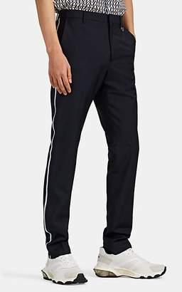 Valentino Men's Side-Striped Worsted Wool-Blend Slim Trousers - Navy