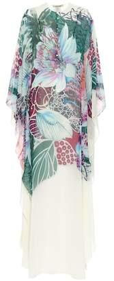 Roberto Cavalli Printed silk maxi dress