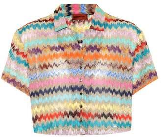 Missoni Mare Metallic knitted shirt