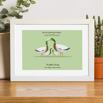 MY MAGIC NAME Personalised Family Portrait Print Of Ducks