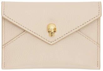 Alexander McQueen Pink and Gold Skull Envelope Card Holder