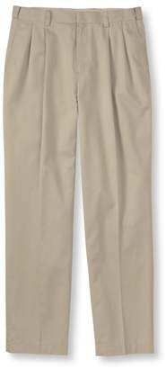 L.L. Bean L.L.Bean Men's Wrinkle-Free Dress Chinos, Natural Fit Hidden Comfort Pleated