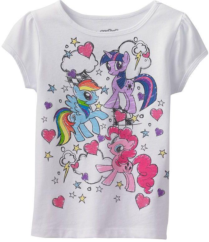 My Little Pony scribble tee - girls 4-6x