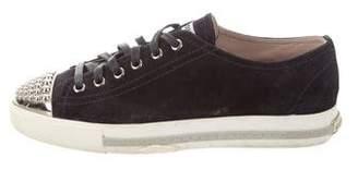 Miu Miu Suede Low-Top Sneakers