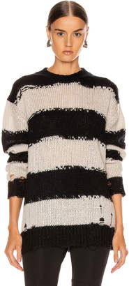 Acne Studios Kantonia Stripe in Black & Grey | FWRD