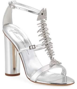 9f17a3e2556 Giuseppe Zanotti Silver Embellished Women s Sandals - ShopStyle