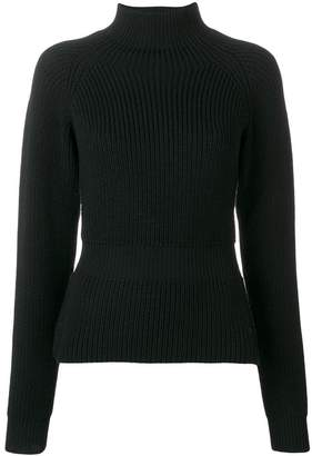 Fay high neck ribbed knit sweater