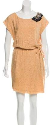 Fendi Embellished Sleeveless Dress