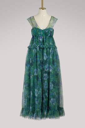 Erdem Pia tulle long dress