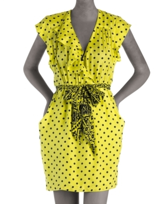 Nanette Lepore Every Breath Polka-Dot Dress
