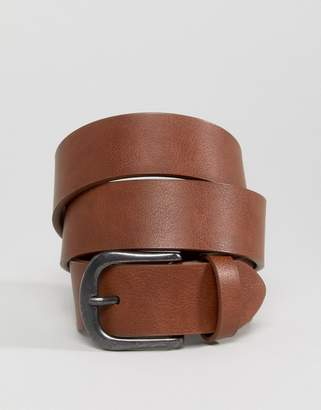 Asos DESIGN vintage tan jeans belt in water based pu