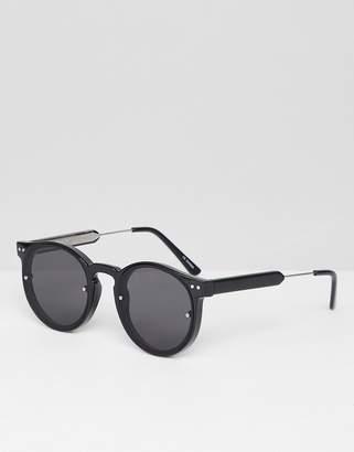 Spitfire Post Punk round sunglasses in black