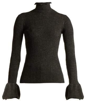 Acne Studios Raine cut-out ribbed-knit alpaca-blend sweater