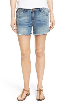Women's Kut From The Kloth 'Gidget' Denim Cutoff Shorts $69 thestylecure.com