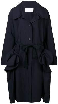Roberts Wood oversized draped coat