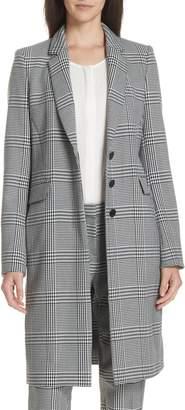 BOSS Canati Long Plaid Jacket