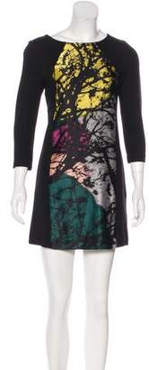 Tibi Paneled Mini Dress