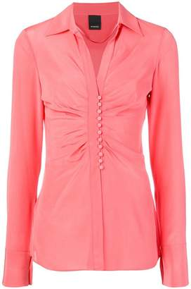 Pinko ruched front shirt