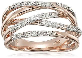 10k Rose Gold Woven Diamond Ring (0.14 cttw