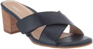 Vionic Leather Cross Strap Heel - Lorne
