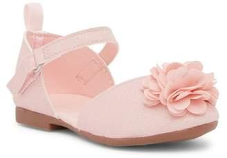 Osh Kosh OshKosh Giselle Rosette Ankle Strap Flat (Toddler & Little Kid)