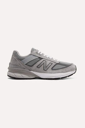 New Balance 990v5 Suede And Mesh Sneakers - Gray