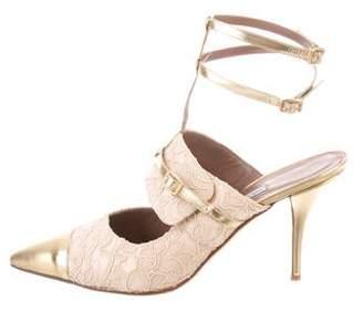 Tabitha Simmons Lace Ankle Strap Pumps
