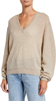 KHAITE Sam Cashmere V-Neck Sweater