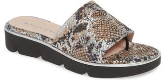 Patricia Green Snake Embossed Slide Sandal