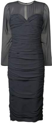 Max Mara sheer ruched dress