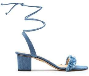Charlotte Olympia Tara Frayed Denim Sandals