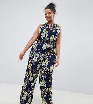 Yumi Plus Printed Jumpsuit