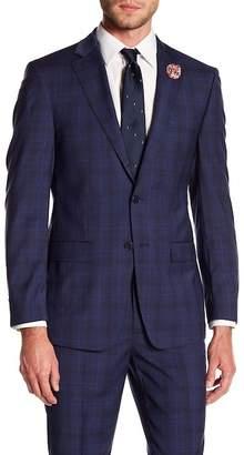 Calvin Klein Mabry Fine Stripe Wool Suit Jacket