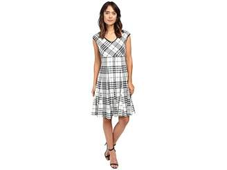 Taylor Knit Jacquard Fit Flair Women's Dress