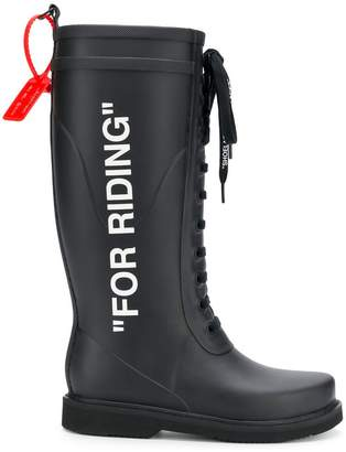 Off-White labelled wellington boots