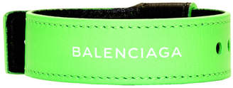 Balenciaga Green Leather Party Bracelet