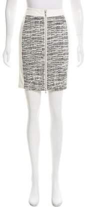 Ramy Brook Leather Contrast Mini Skirt