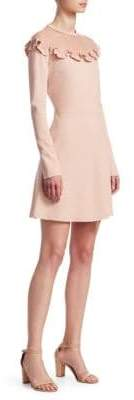 RED Valentino Ponte Jersey and Soft Point D Esprit Dress