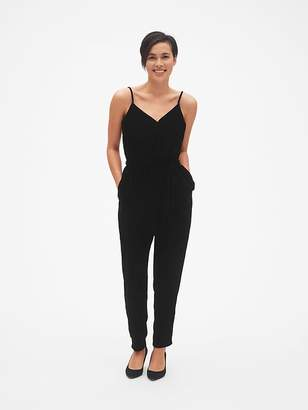 Gap Velvet Cami Wrap Jumpsuit