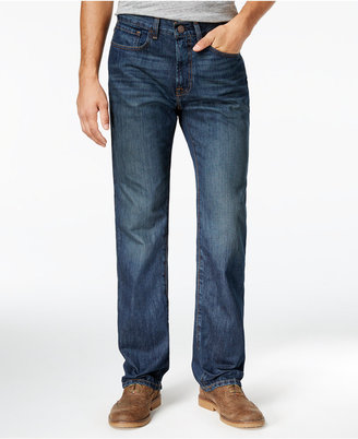 Tommy Hilfiger Men's Relaxed Fit Dark Wash Jeans $59.50 thestylecure.com
