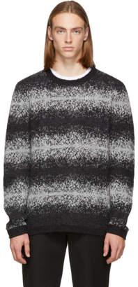 Saturdays NYC Black Wade Ombre Stripe Sweater