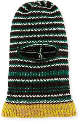 Calvin Klein Balaclava Graphic Stripe Fitted Knit Hood Hat