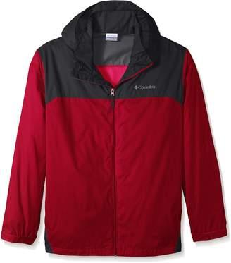 Columbia Men's Big Glennaker Lake Rain Jacket Outerwear, Black/Grill