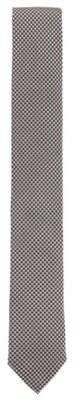 BOSS Hugo Italian-made tie in pepita-patterned silk jacquard One Size Black